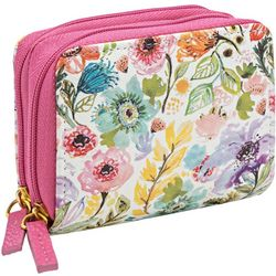 Buxton Floral RFID Wizard Wallet