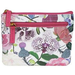 Buxton Lovely Orchids RFID Large Coin & Card Wallet