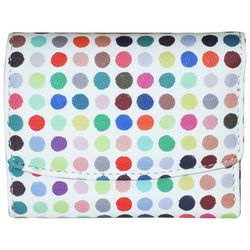 Buxton Polka Dot Party RFID Mini Trifold Wallet