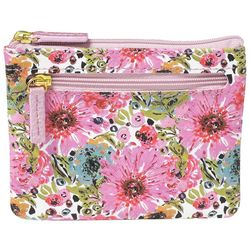 Buxton Spring In Bloom RFID Large Coin & Card Wallet