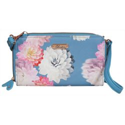 Buxton Floral Pattern ID Crossbody Wallet