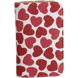 Buxton Dotted Hearts Snap Card Wallet