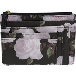 Buxton Roses RFID Coin & Card Wallet