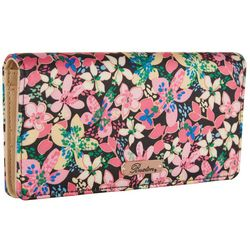 Buxton Floral RFID Retracting Wristlet Wallet