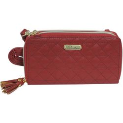 Buxton Quilted Pattern ID Crossbody Wallet