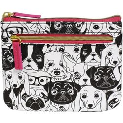 Dog Lover RFID Large Coin & Card Wallet
