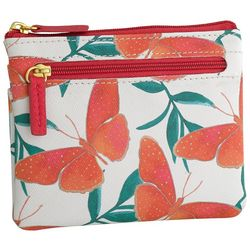 Buxton Coral Butterfly RFID Large Coin & Card Wallet