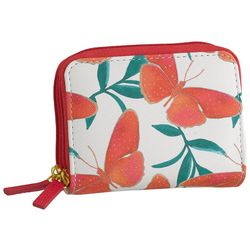 Buxton Coral Butterfly RFID Wizard Wallet