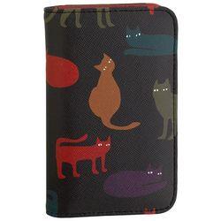 Buxton Cat Print Snap Card Wallet