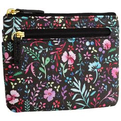Buxton Floral RFID Coin & Card Wallet