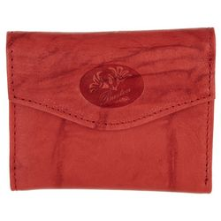 Buxton Roses RFID Mini Trifold Leather Wallet