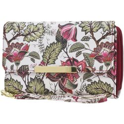 Mundi RFID Native Garden Flower Print Big Fat Wallet