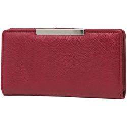 Pebble Slim Clutch Solid Wallet
