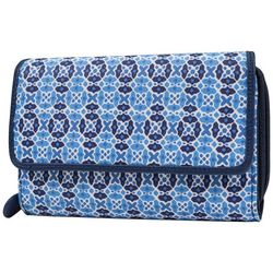 Mundi RFID Big Fat Geometric Ikat Print Wallet