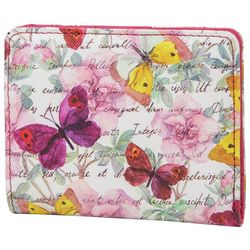 Butterfly Floral Halifax Mini RFID Bifold Wallet