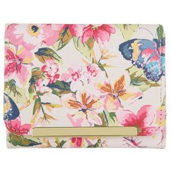 Floral Butterfly Halifax Mini RFID Trifold Wallet