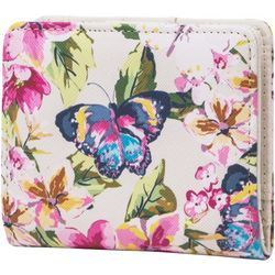Floral Butterfly Halifax Mini RFID Bifold Wallet