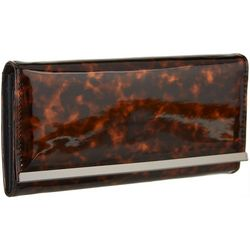 Brown and Black Tortoiseshell Clutch Wallet