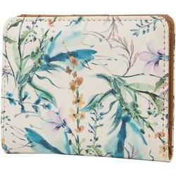 Aiana Watercolor Floral Mini Bifold Wallet