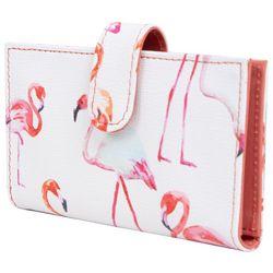 Mundi RFID Pink Flamingo Debbie Double Wallet