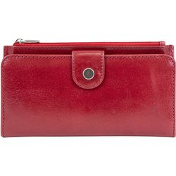 Mundi Vintage Look Leather Slim Snap Wallet