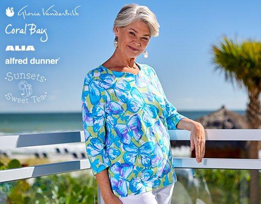 Women's Sportswear from Gloria Vanderbilt, Coral Bay, Alia, Alfred Dunner & Sunsets and Sweet Tea