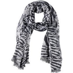 Womens Mixed Animal Print Scarf