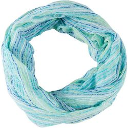 Basha Womens Lurex Stripes Infinity Scarf