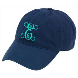 Viv & Lou Womens Monogram E Baseball Hat