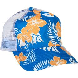 Womens Tropical Floral Trucker Hat