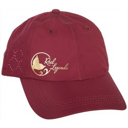Reel Legends Womens Gold Tone Logo Baseball Hat