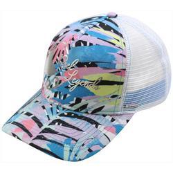 Womens Rainbow Fronds Trucker Hat