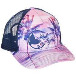 Reel Legends Womens Pink Fronds Trucker Hat