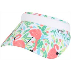 Coral Bay Golf Womens Pink Flamingo Print Visor