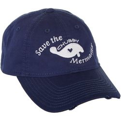 Chubby Mermaids Womens Embroidered Manatee Hat