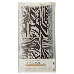 Punch Studio 10-Pk. Zebra Print Disposable Face Masks