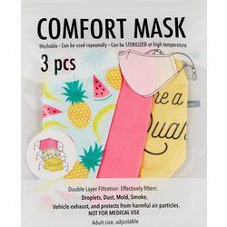 Prime Time 3-Pc. Quarantini Face Mask Set
