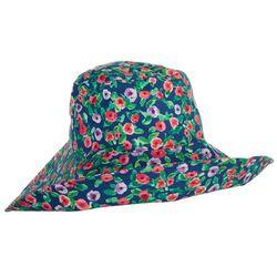 Steve Madden Womens Floppy Floral Hat
