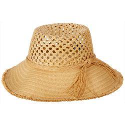 Steve Madden Womens Crocheted Straw Bucket Toyo Hat
