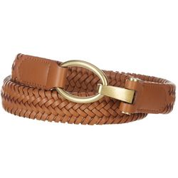 Womens Interlock Buckle Braided Belt