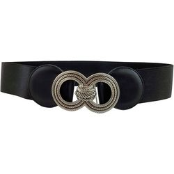 Bay Studio Womens Double Ring Metal Buckle Stretch Belt