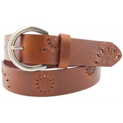 Bay Studio Womens Perferated Embossed Belt