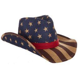 Americana Womens Vintage Straw Cowboy Hat