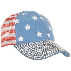 Americana Womens American Bling Adjustable Trucker Cap