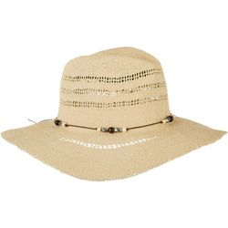 Twig And Arrow Womens Beaded Detail Woven Panama Hat