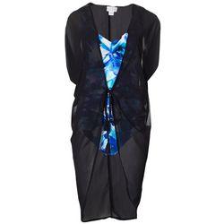 Lulu Womens Tie Front Tassel Kimono