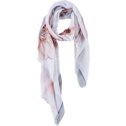 Lulu Womens Statement Floral Scarf