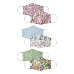 Lady Pepperell Womens 3-pk. Floral Reversible Face Masks