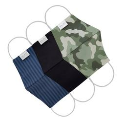 3-pk. Silverbac Camo Solid Stripe Reusable Face Masks