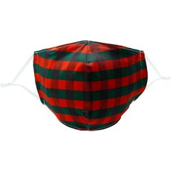 Filtered Thoughts Holiday Plaid Reusable Face Mask